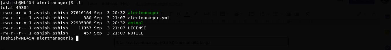 alertmanager folder structure